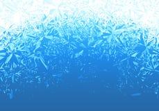 Fundo azul da geada do gelo do inverno ilustração do vetor
