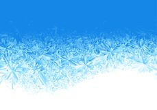 Fundo azul da geada do gelo do inverno ilustração stock