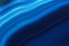 Fundo azul da gema da ágata (macro, detalhe) Foto de Stock Royalty Free