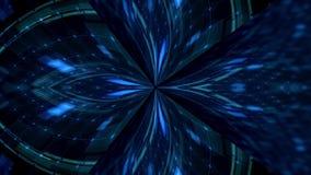Fundo azul da iluminação do disco ilustração stock