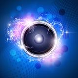 Fundo azul da música fotografia de stock royalty free