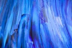 Fundo azul da pintura da textura fotos de stock royalty free