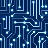Fundo azul da placa de circuito do vetor Fotografia de Stock Royalty Free