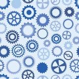 Fundo azul da roda denteada Imagem de Stock Royalty Free