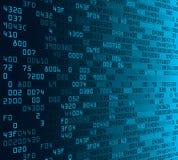 Fundo azul da segurança com Encantar-código Fotografia de Stock