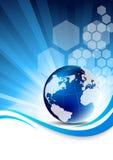 Fundo azul da tecnologia Imagem de Stock
