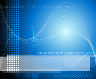 Fundo azul da tecnologia Imagem de Stock Royalty Free