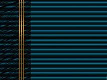 Fundo azul da tecnologia abstrata com os tubos de néon metálicos dentro Fotos de Stock