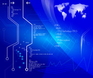 Fundo da tecnologia Imagens de Stock