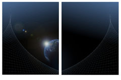 Fundo azul da terra Imagens de Stock