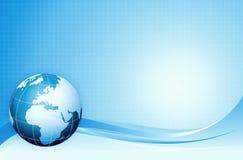 Fundo azul da terra, WWW, Internet Imagens de Stock