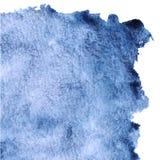 Fundo azul da textura da aquarela Fotografia de Stock