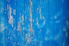 Fundo azul da textura da prancha de madeira Imagem de Stock