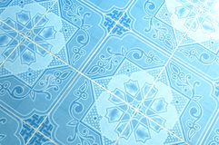 Fundo azul da textura das telhas de Eamless Foto de Stock