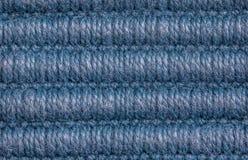 Fundo azul da textura de lãs Imagem de Stock