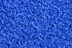 Fundo azul da textura de toalha Imagens de Stock