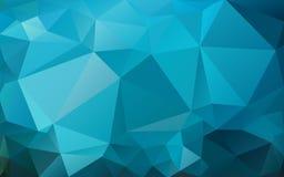 Fundo azul das cores brilhantes dos triângulos, fundo abstrato marinho Imagens de Stock