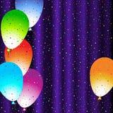 Fundo azul de cumprimento 2 do feriado Fotos de Stock Royalty Free