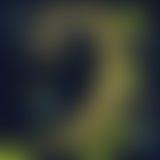 Fundo azul de Defocus, amarelo e verde obscuro da natureza na noite Foto de Stock Royalty Free