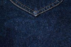 Fundo azul de Jean Texture da sarja de Nimes fotos de stock royalty free