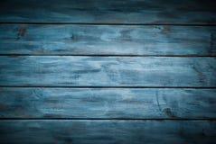 Fundo azul de madeira imagens de stock royalty free