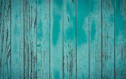 Fundo azul de madeira velho e resistido com espaço da cópia Fundo de madeira ciano com espaço vazio para seu texto De madeira azu imagem de stock