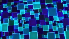 Fundo azul de néon dos cubos das luzes em 4k vídeos de arquivo