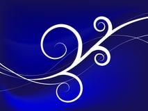 Fundo azul de Swirly Ilustração do Vetor