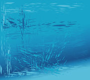 Fundo azul de vidro quebrado Imagens de Stock Royalty Free