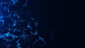 Fundo azul digital abstrato Efeito do plexo Estrutura da conex?o de rede Fundo da ci?ncia rendi??o 3d ilustração royalty free