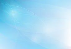 Fundo azul do abstrack com linhas ondas, Imagens de Stock Royalty Free