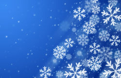 Fundo azul do blizzard ilustração do vetor