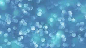 Fundo azul do bokeh criado pelas luzes de néon Fotografia de Stock Royalty Free
