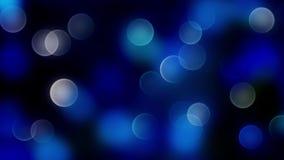 Fundo azul do bokeh criado pelas luzes de néon Imagem de Stock Royalty Free