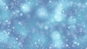 Fundo azul do bokeh criado pelas luzes de néon Fotos de Stock