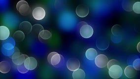 Fundo azul do bokeh criado pelas luzes de néon Foto de Stock Royalty Free