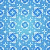 Fundo azul do céu noturno Fundo sem emenda do azul das estrelas Ilustração do vetor Imagem de Stock Royalty Free