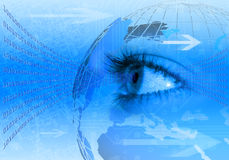 Fundo azul do conceito do Internet Imagens de Stock Royalty Free