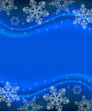 Fundo azul do floco de neve Fotografia de Stock Royalty Free