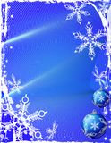 Fundo azul do gelo Imagens de Stock