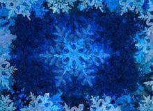 Fundo azul do gelo do inverno Imagens de Stock