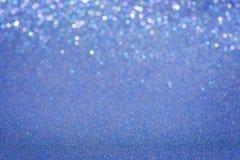 Fundo azul do glitter fotografia de stock