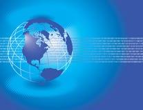 Fundo azul do globo ilustração stock
