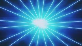 Fundo azul do gráfico do movimento dos raios dos raios laser filme