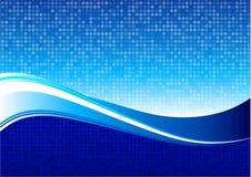 Fundo azul do Internet do teste padrão de onda Imagens de Stock Royalty Free