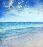 Fundo azul do mar Foto de Stock Royalty Free