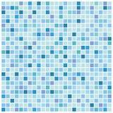 Fundo azul do mosaico Fotografia de Stock
