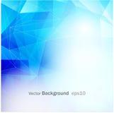 Fundo azul do mosaico da grade, moldes criativos EPS10 do projeto Foto de Stock