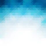 Fundo azul do mosaico, moldes criativos do projeto Imagens de Stock Royalty Free