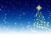 Fundo azul do Natal Imagens de Stock Royalty Free